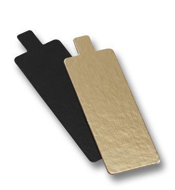 Untersetzer Rechteck 4,5 x 13 gold / schwarz