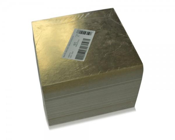 Tortenscheiben gold 21 x 21 cm