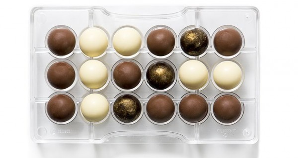 Schokoladeform Halbkugeln 25 mm