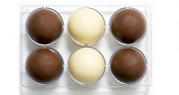 Schokoladeform Halbkugeln 75 mm