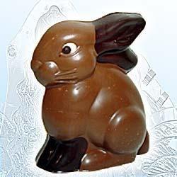 Schokolade-Hohlform sitzender Hase