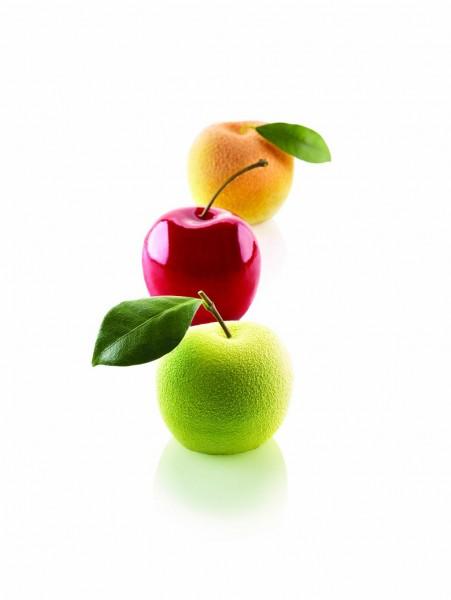 Silikonform MELA Apfel / Kirsche / Pfirsich