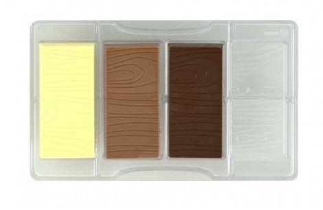 Schokoladeform Täfelchen Holz