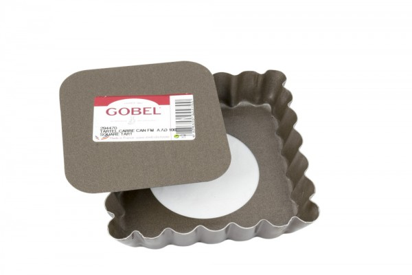 Tartelette-Form gewellt quadratisch 10 cm