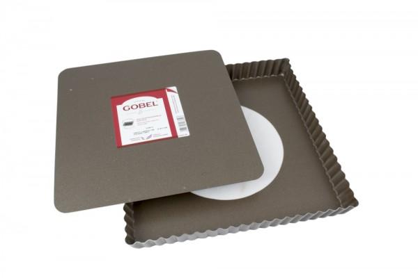Tarte-Form gewellt quadratisch 23 cm