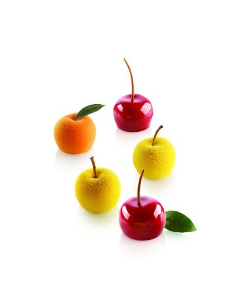 Silikomart MELA Mini Apfel, Kirsche, Pfirsich
