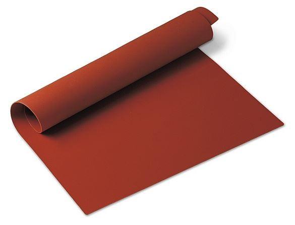 Silikonmatte glatt rot