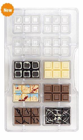 Schokoladeform kleine Täfelchen