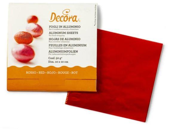 Pralinenfolie Rot 10 x 10 cm