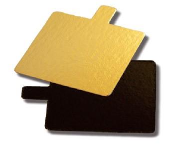 Untersetzer Petits Four 6 cm quadrat gold / schwarz