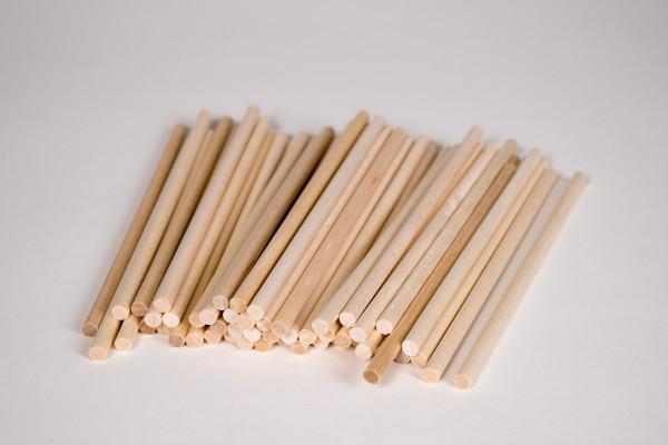 Holzstiele rund 50 Stück Ø 5 / 160 mm